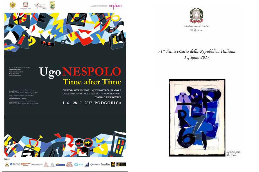 """OLIO """"TRALDI"""" in Montenegro per la mostra """"Time after Time"""" di Ugo Nespolo"""